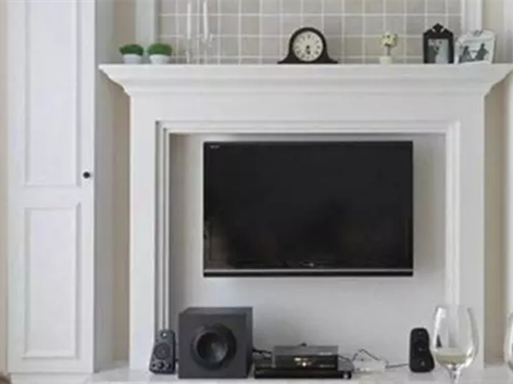 小面积电视背景墙这样设计,你宣吗?