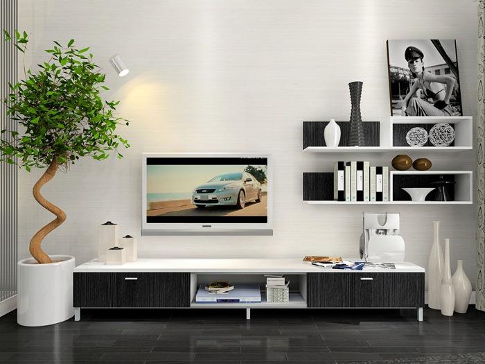 黑白灰电视背景墙怎么样?电视背景墙材质有哪些?