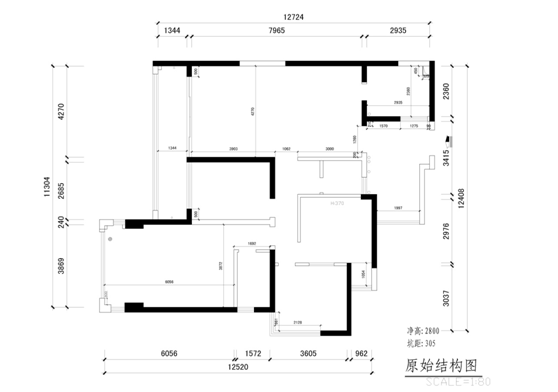 整屋案例:160平简约中式大三居 用胡桃木演绎雅致风韵